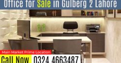 Office For Sale in Main Market Gulberg 2 Lahore